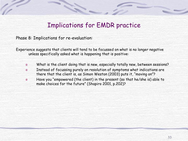 Implications for EMDR practice