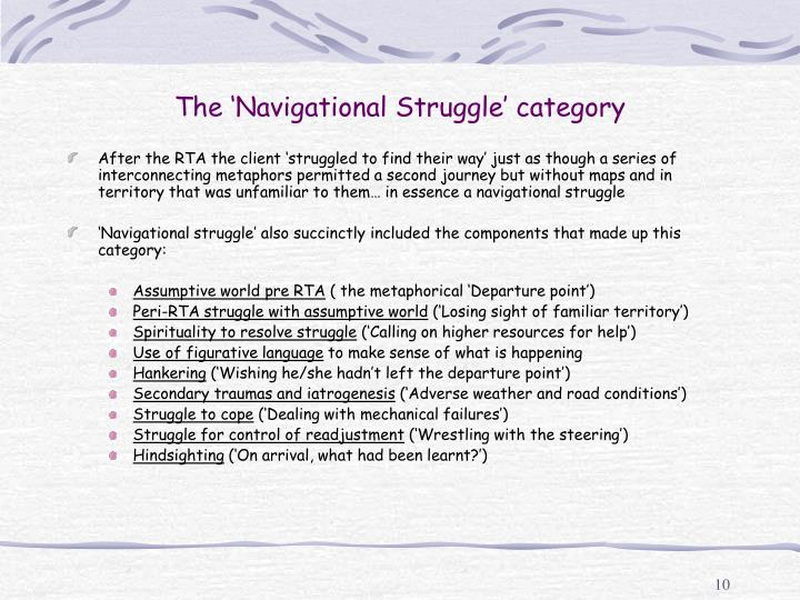 The 'Navigational Struggle' category