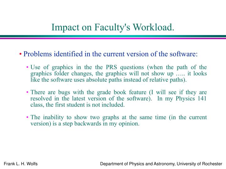 Impact on Faculty's Workload.