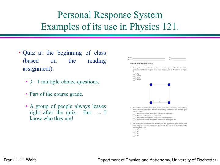 Personal Response System