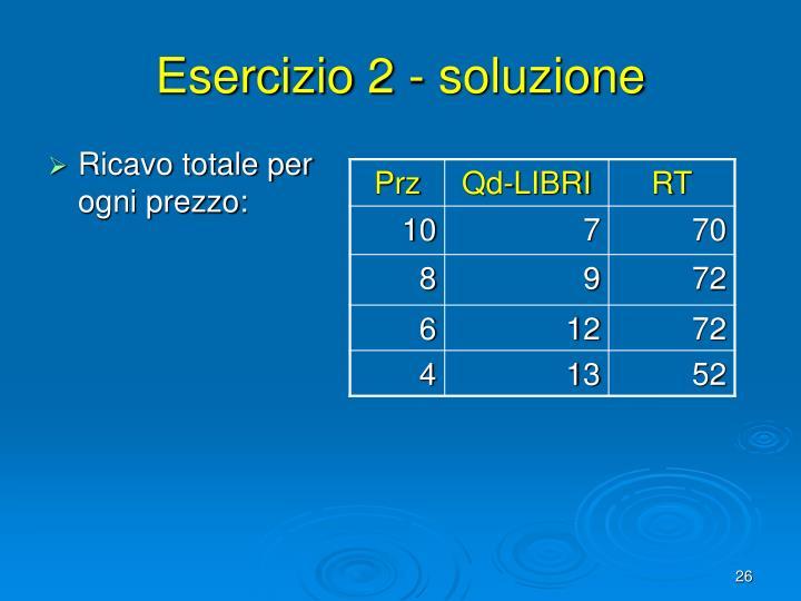 Esercizio 2 - soluzione