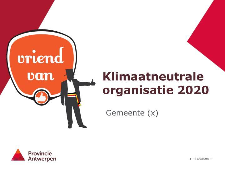 klimaatneutrale organisatie 2020