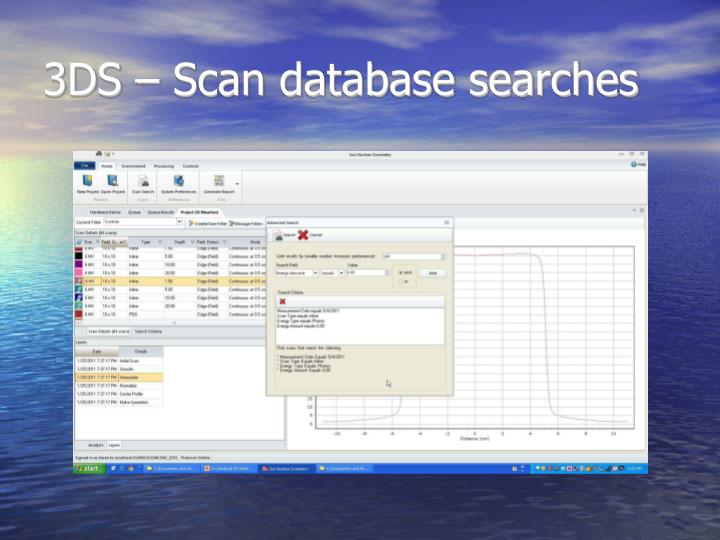 3DS – Scan database searches
