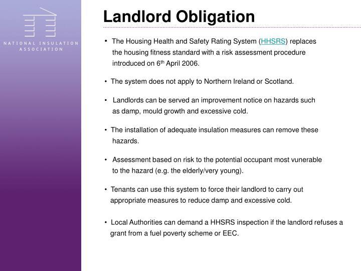 Landlord Obligation