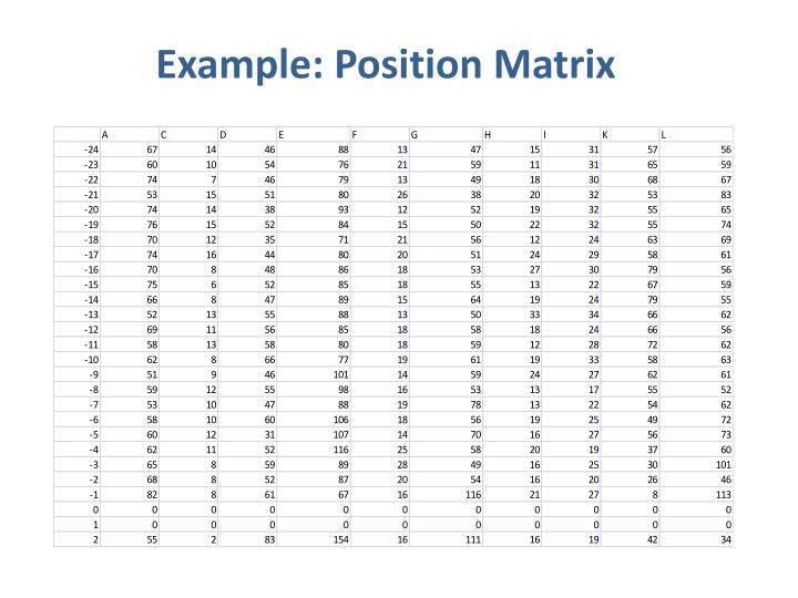 Example: Position Matrix