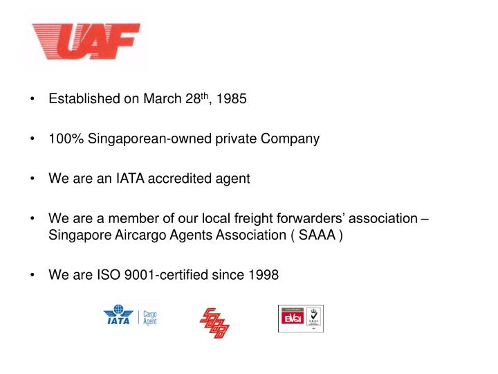 Established on March 28