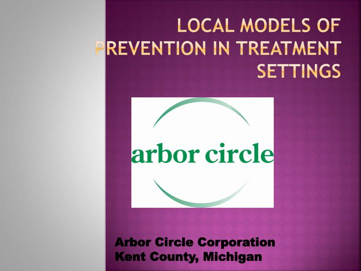 Local Models of Prevention in Treatment Settings
