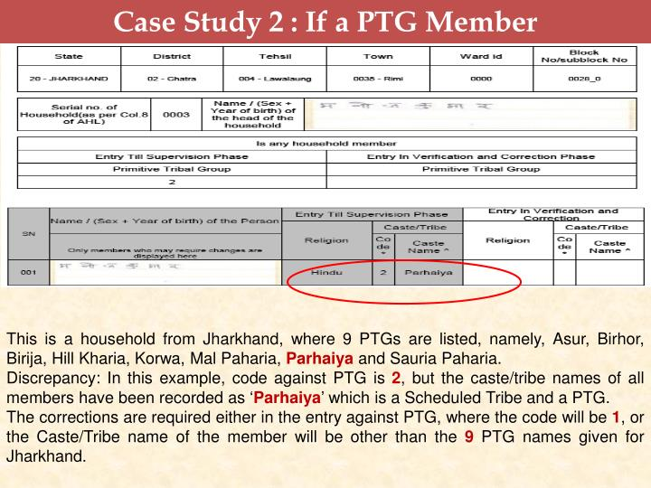 Case Study 2 : If a PTG Member
