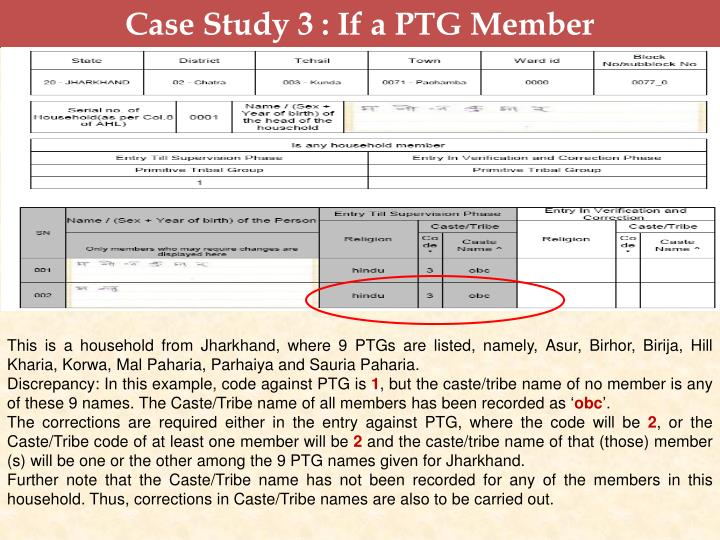 Case Study 3 : If a PTG Member