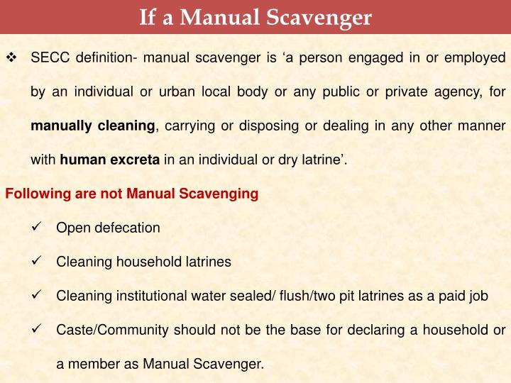 If a Manual Scavenger