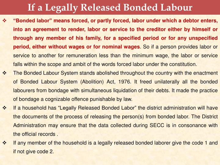 If a Legally Released Bonded