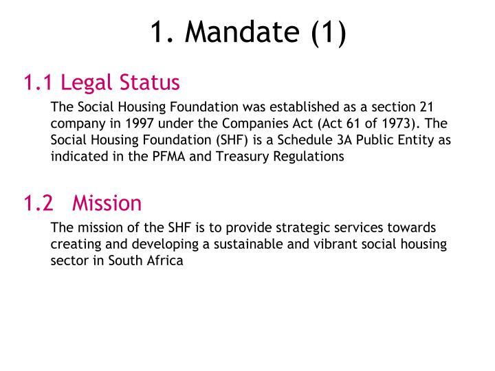 1. Mandate (1)