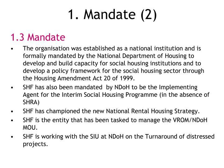 1. Mandate (2)