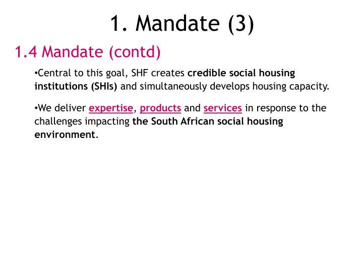 1. Mandate (3)
