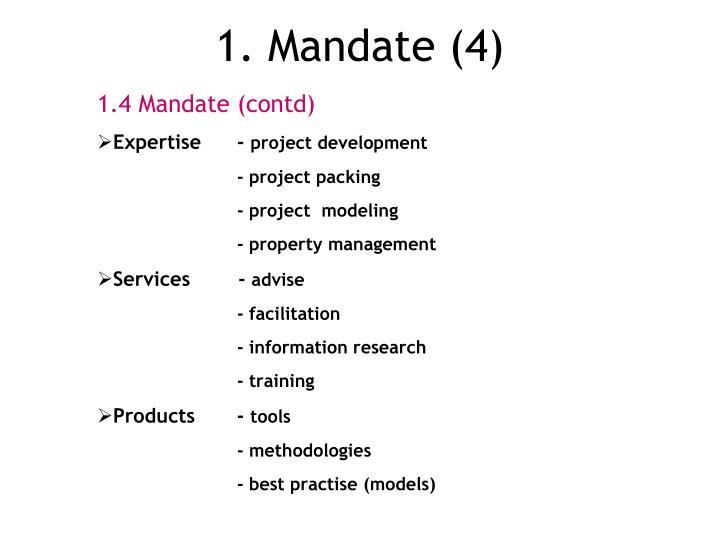 1. Mandate (4)