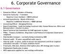 6 corporate governance