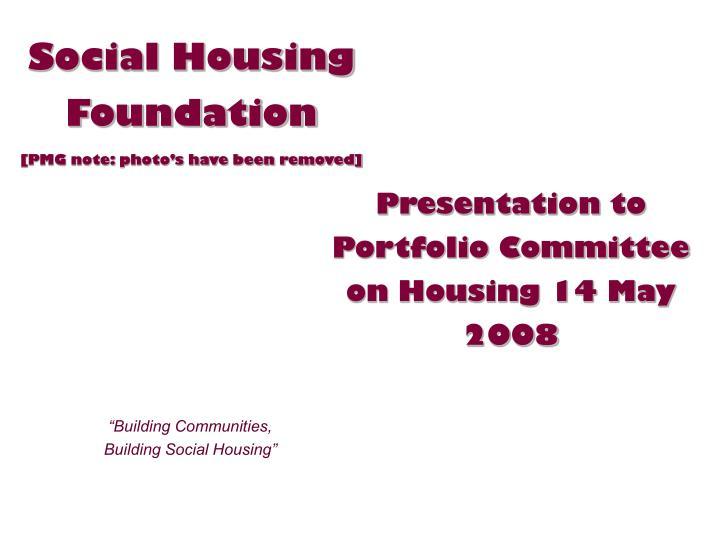 Social Housing Foundation