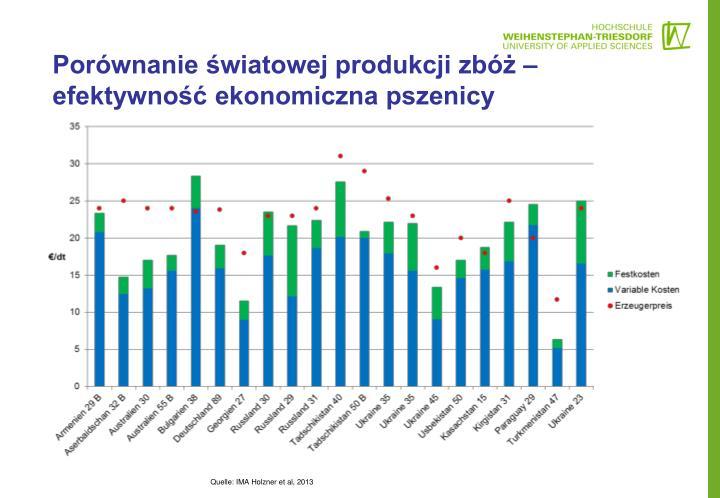 Porównanie światowej produkcji zbóż – efektywność ekonomiczna pszenicy