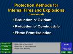 protection methods for internal fires and explosions continued2