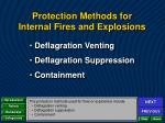 protection methods for internal fires and explosions1