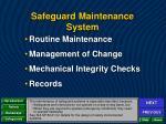 safeguard maintenance system2