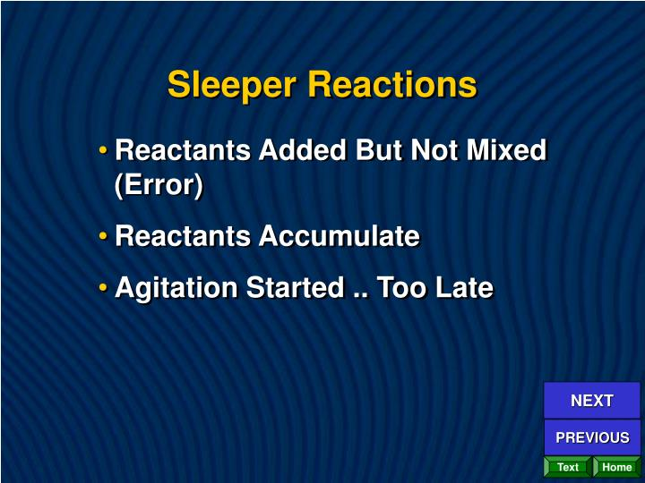 Sleeper Reactions