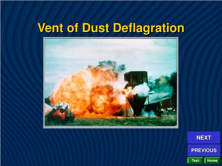 Vent of Dust Deflagration
