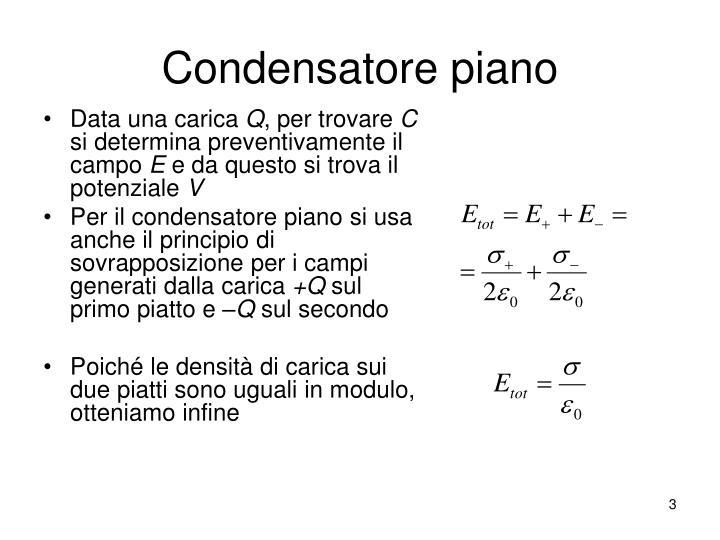 Condensatore piano