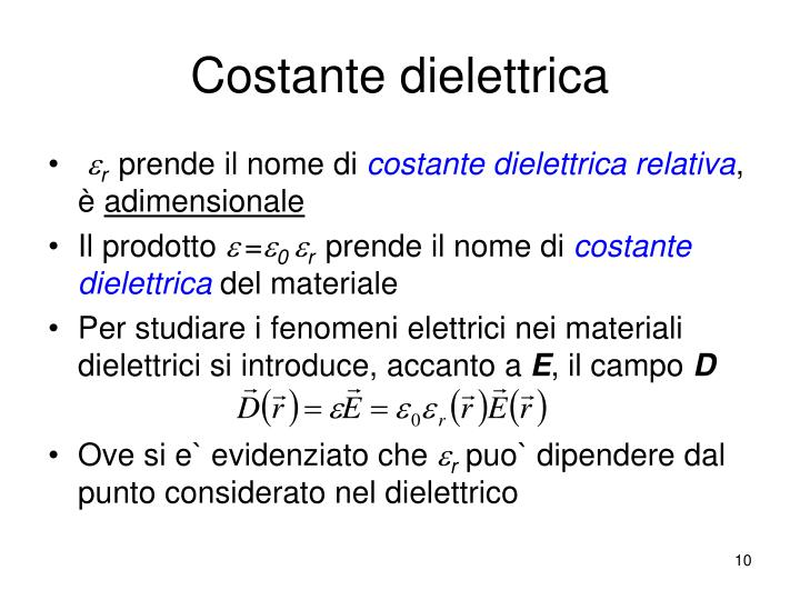 Costante dielettrica