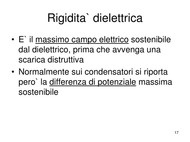 Rigidita` dielettrica