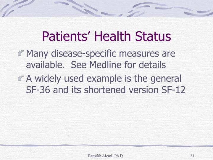 Patients' Health Status