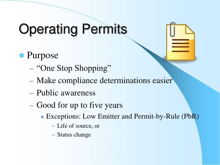 Operating Permits