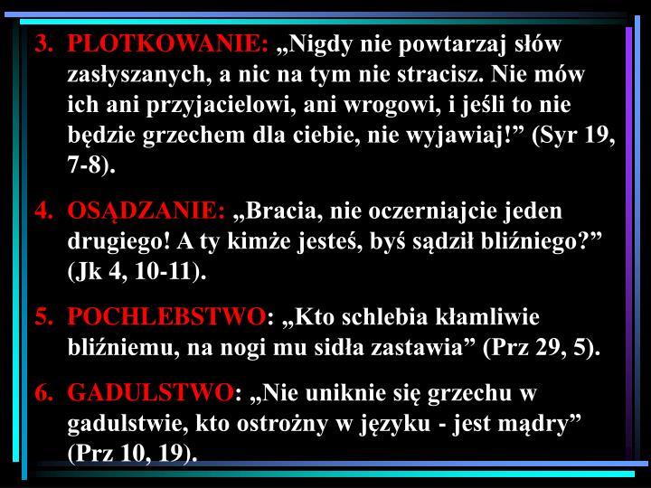 PLOTKOWANIE: