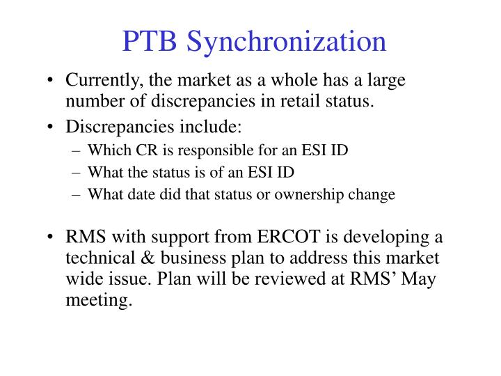 PTB Synchronization