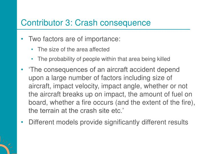 Contributor 3: Crash consequence