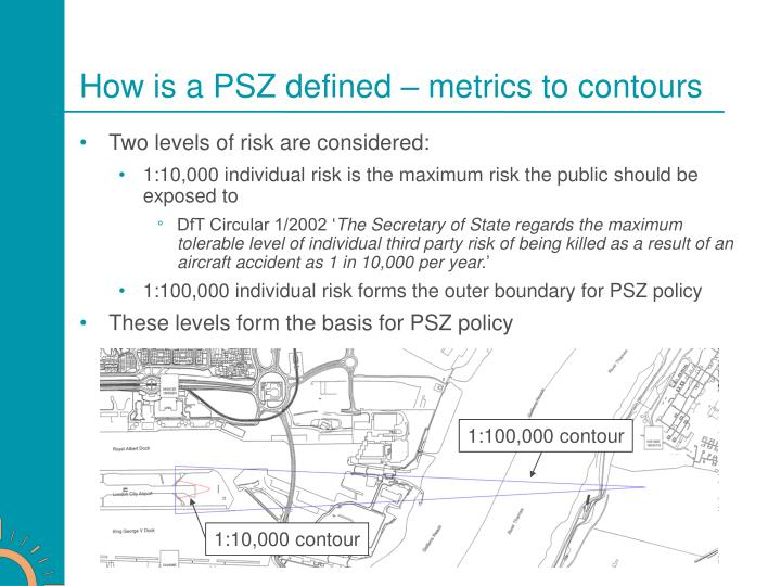 How is a PSZ defined – metrics to contours