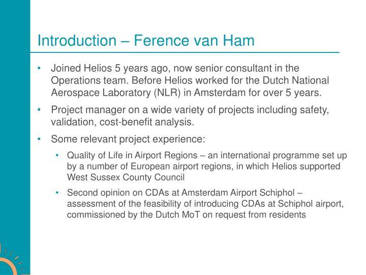Introduction – Ference van Ham