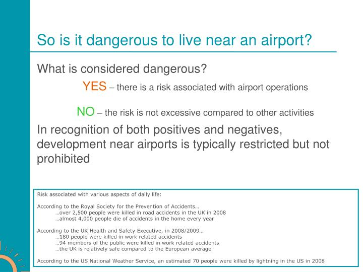 So is it dangerous to live near an airport?