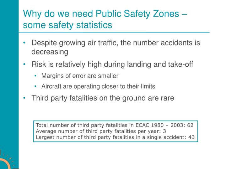 Why do we need Public Safety Zones – some safety statistics