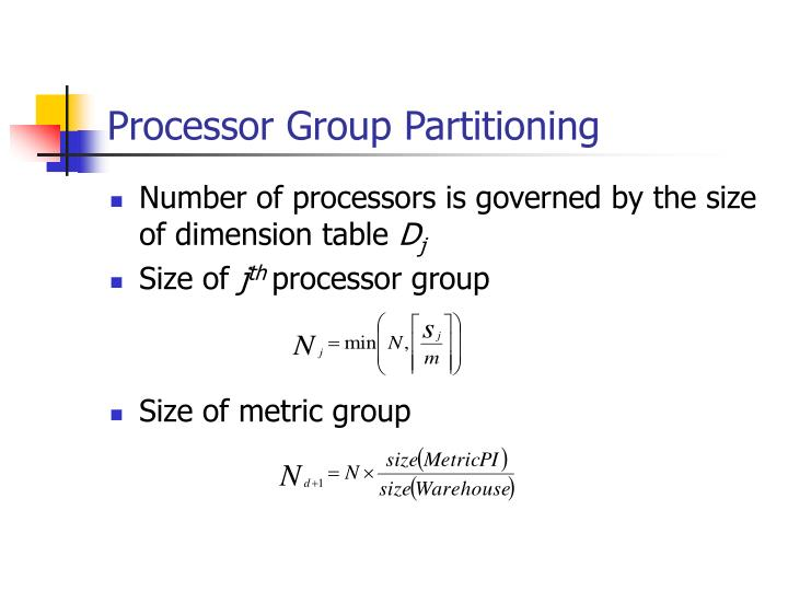 Processor Group Partitioning