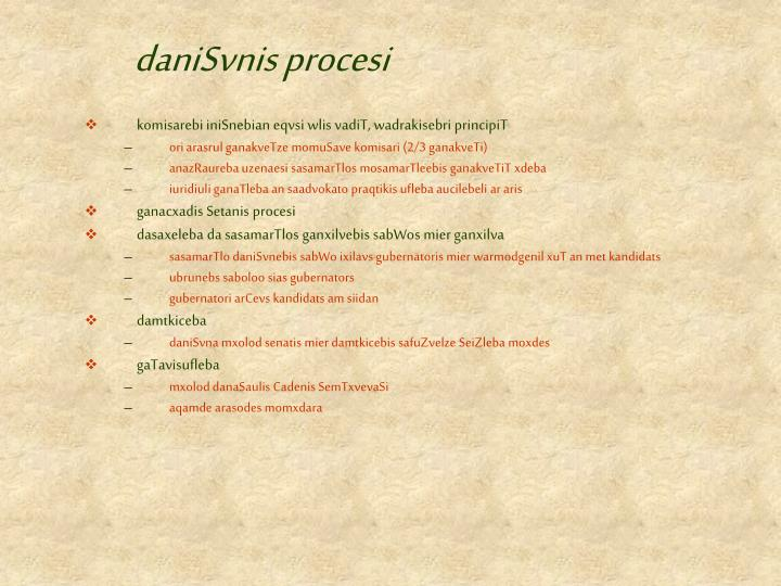 daniSvnis procesi