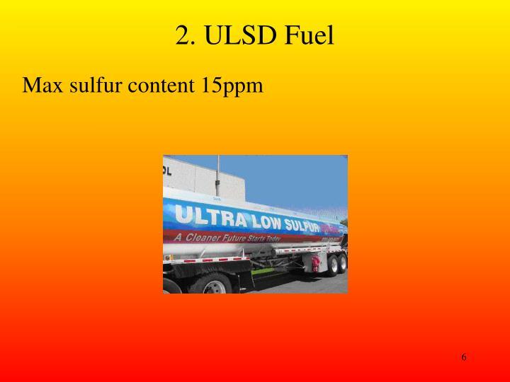 2. ULSD Fuel