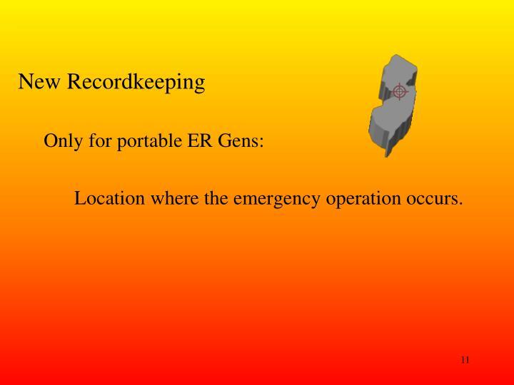 New Recordkeeping