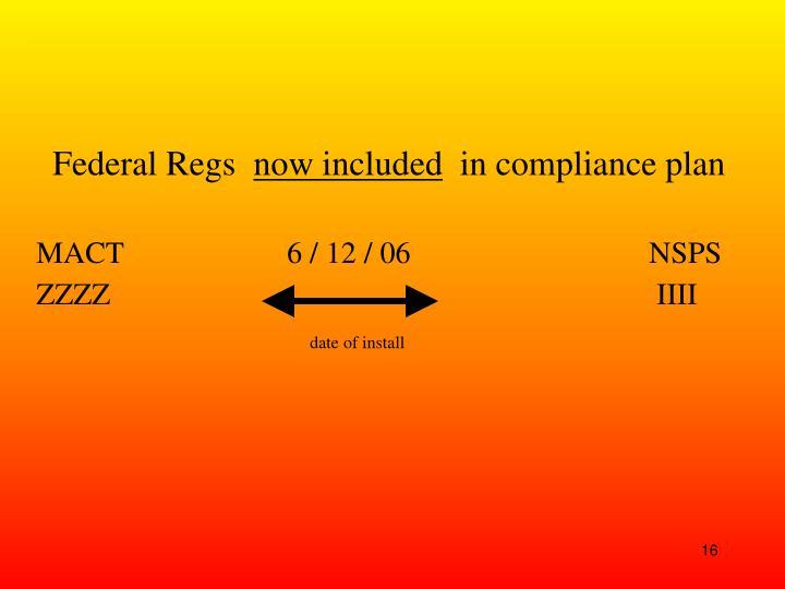 Federal Regs