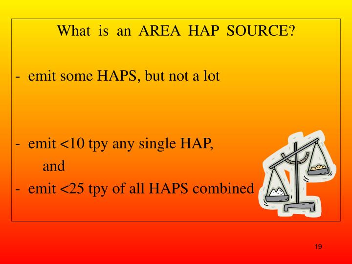 What  is  an  AREA  HAP  SOURCE?