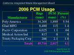 2006 pcm usage