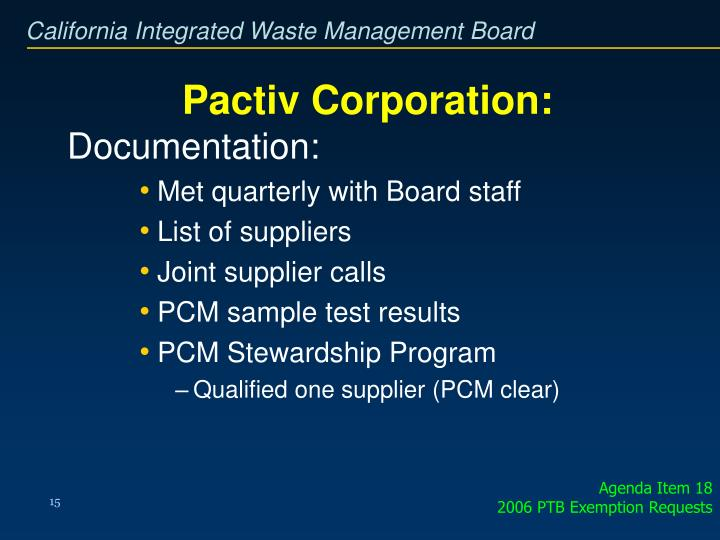 Pactiv Corporation: