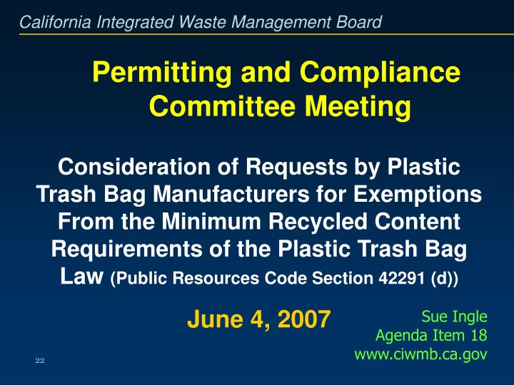 Permitting and Compliance
