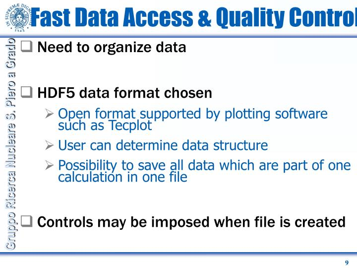 Fast Data Access & Quality Control