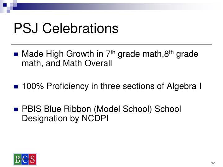 PSJ Celebrations